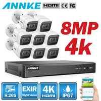 ANNKE 4K HD Ultra Clear 8CH Video Sistema di Sicurezza H.265 + DVR Con 4X8X8 MP IR Esterni, impermeabile del CCTV Telecamera di Sorveglianza Kit