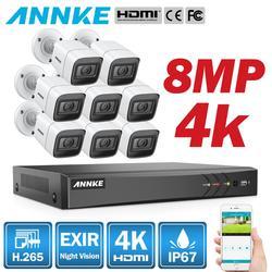 Annke 4 k hd ultra clear 8ch sistema de segurança de vídeo h.265 + dvr com 4x8x8 mp ir ao ar livre à prova de intempéries cctv câmera vigilância kit