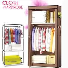 Bedroom Furniture Wardrobes-Rack Storage-Organizer Closet Shelf Steel Non-Woven Cloth