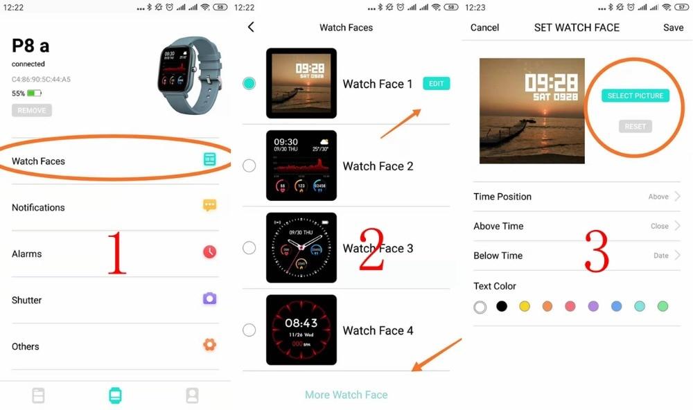Hf35f40b3287847d8ae0fe47ccefd6448H 2021 New P8 Color Screen Smart Watch Women men Full Touch Fitness Tracker Blood Pressure Smart Clock Women Smartwatch for Xiaomi