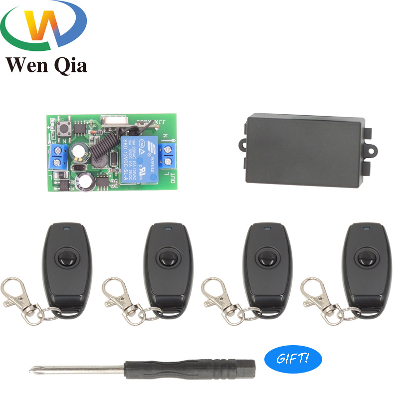 443Mhz Universal Wireless Remote Control Switch <font><b>AC</b></font> 110V <font><b>220V</b></font> <font><b>1CH</b></font> <font><b>Relay</b></font> Receiver Module <font><b>RF</b></font> Button Remote Controls Light/Lamp/Bulb image
