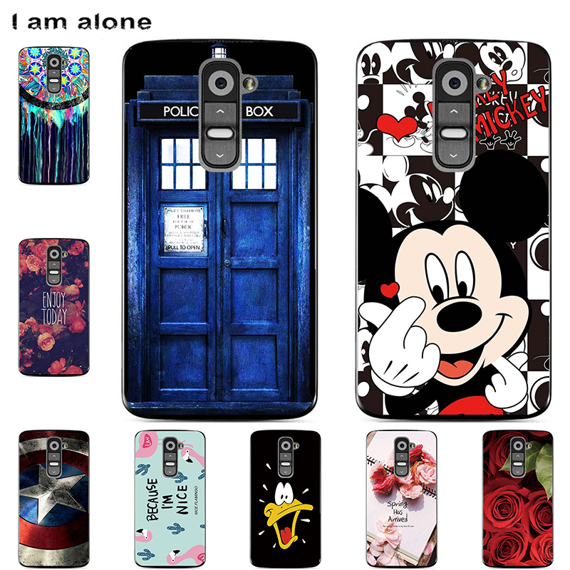 Phone Cases For LG G2 G3 G4 G5 G6 G7 G8S ThinQ Soft TPU Bags Mobile Cartoon Printed For LG G8s ThinQ 2019 Cover Free Shipping image