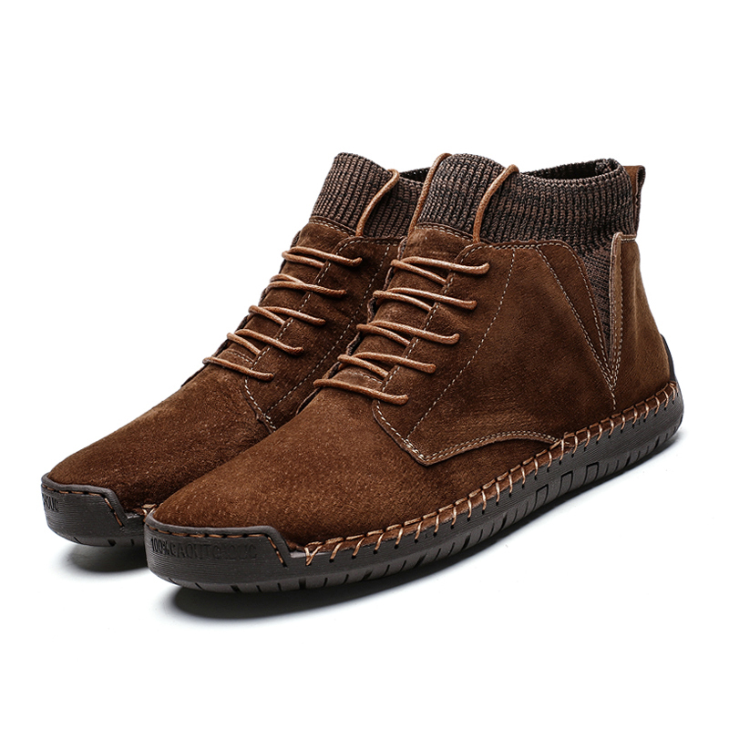 Brown casual shoes boots