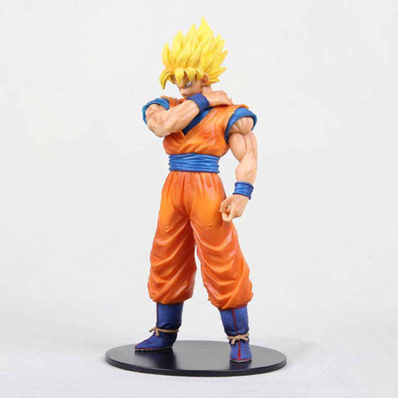 Dragon Ball Super Saiyan Goku Kakarotto Choque Brinquedos Action Figure Boneca Dragon Ball Z Figura PVC Anime Modelo Colecionável
