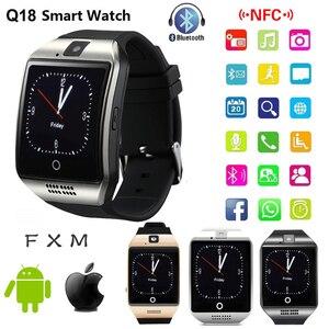 Умные часы с Bluetooth Q18, умные часы с поддержкой TF sim-карты, GSM камера для Android IOS, умные часы, часы, телефон для мужчин и женщин, спортивные
