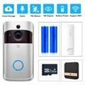 Смарт-видео, дверной звонок Беспроводная камера Wi-Fi для дверного звонка 720P Домашняя безопасность ip-интерком дверь телефон с питанием от акк...