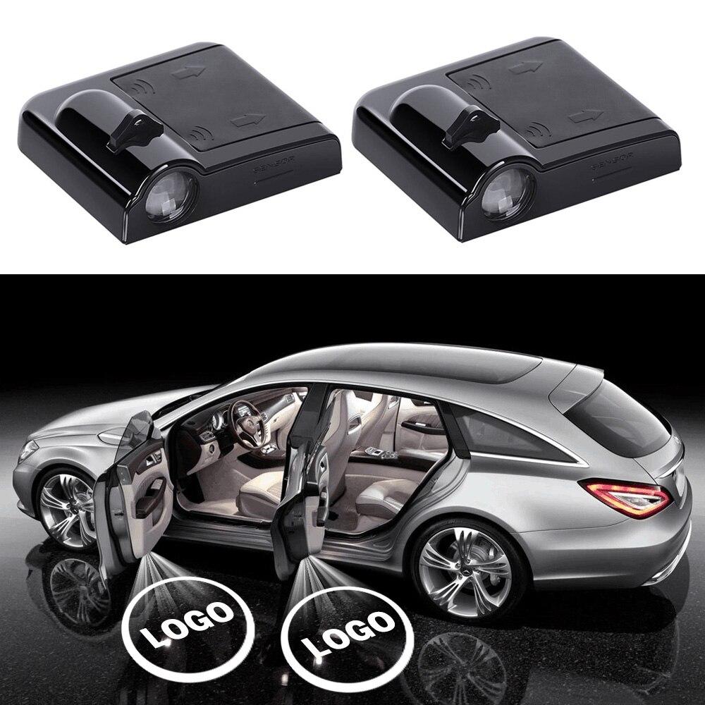 Автомобильный Дверной светильник логотип декоративный проектор аксессуары для Hyundai i40 Tucson 2020 i30 elantra i10 Санта-Фе 2007 ix35 coupe accent