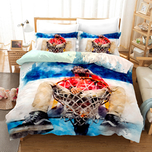 Lanke 3D Basketball Boys Bedding Set  Comforter set Pillowcases Full size bedding sets 2019 bed set