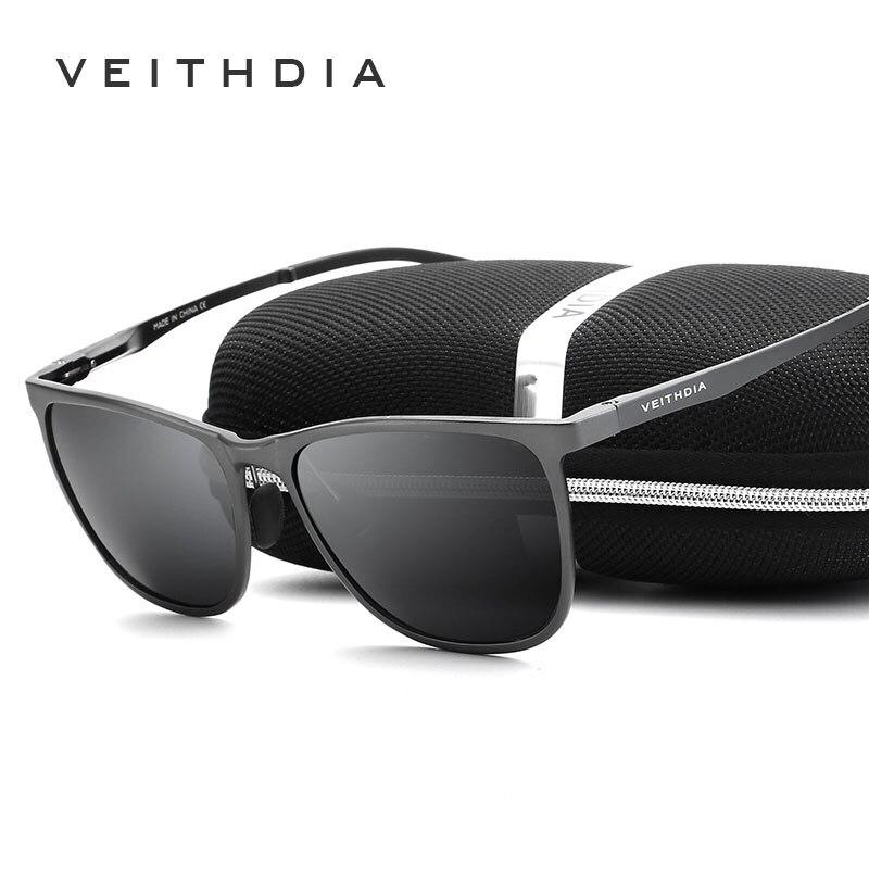 Image 2 - Мужские солнцезащитные ретро очки VEITHDIA, винтажные очки из алюминиево магниевого сплава с поляризационными стеклами, модель 6623, 2019accessories broochaccessories featheraccessories bar  АлиЭкспресс