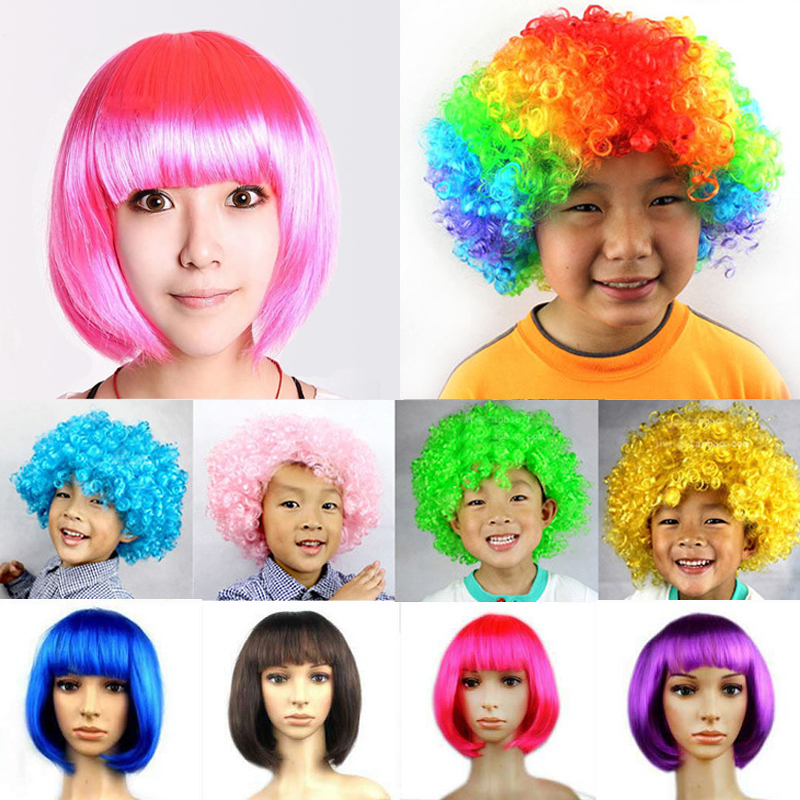 Unisex Colorful Party Wig For All Ages Kid Adult Funny Wig For Masquerade Birthday Christmas Dress Clown Costume Cosplay Party