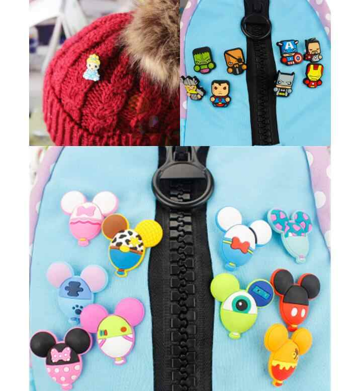 1Pcs My Little Horse Unicorn Poni PVC Lencana Dekorasi untuk Pakaian Tas Anak Wanita Label Pin Fashion Perhiasan Dekorasi