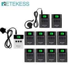 Retekess tt122 sistema de guia turístico sem fio 1 transmissor + 10 receptores para igreja fábrica treinamento guia turístico government reunião