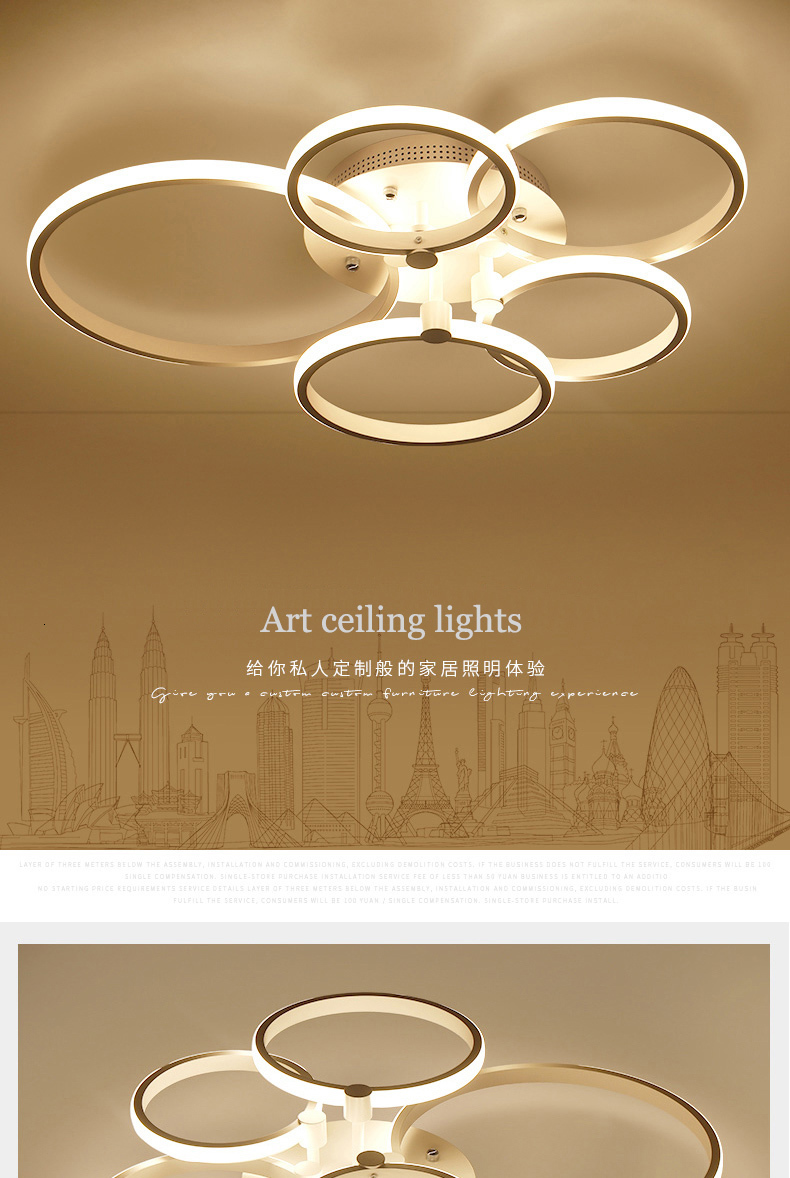 Hf36030d55d0c4ca78b64a4ad84e1483bU Surface mounted modern led ceiling lights for living room Bed room light White/Brown plafondlamp home lighting led Ceiling Lamp