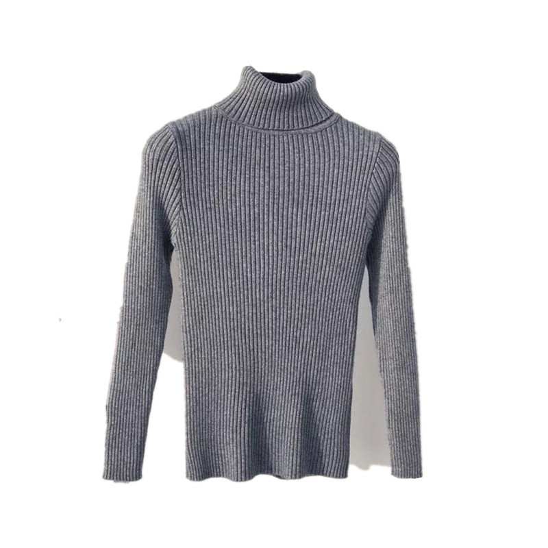 2020 AUTUMN Winter women Knitted Turtleneck Sweater Casual Soft polo-neck Jumper Fashion Slim Femme Elasticity Pullovers 7