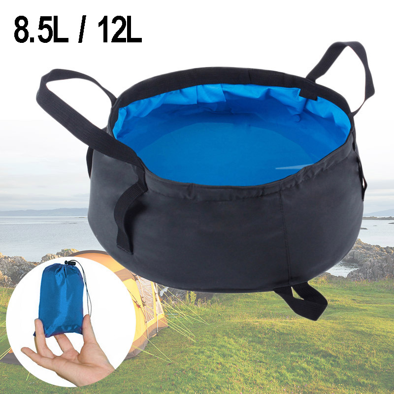 8.5L-12L Ultra-light Portable Foldable Folding Washbasin Basin Outdoor Survival Travel Camping Equipment Hiking Accessories