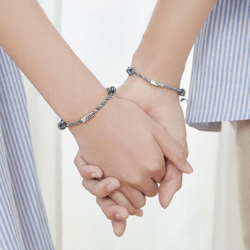 New Bracelet Shanmeng Oath Of Love Bracelet Hand Woven Magnetic Couple Bracelet Jewelry Gift For Men And Women Drop Shipping