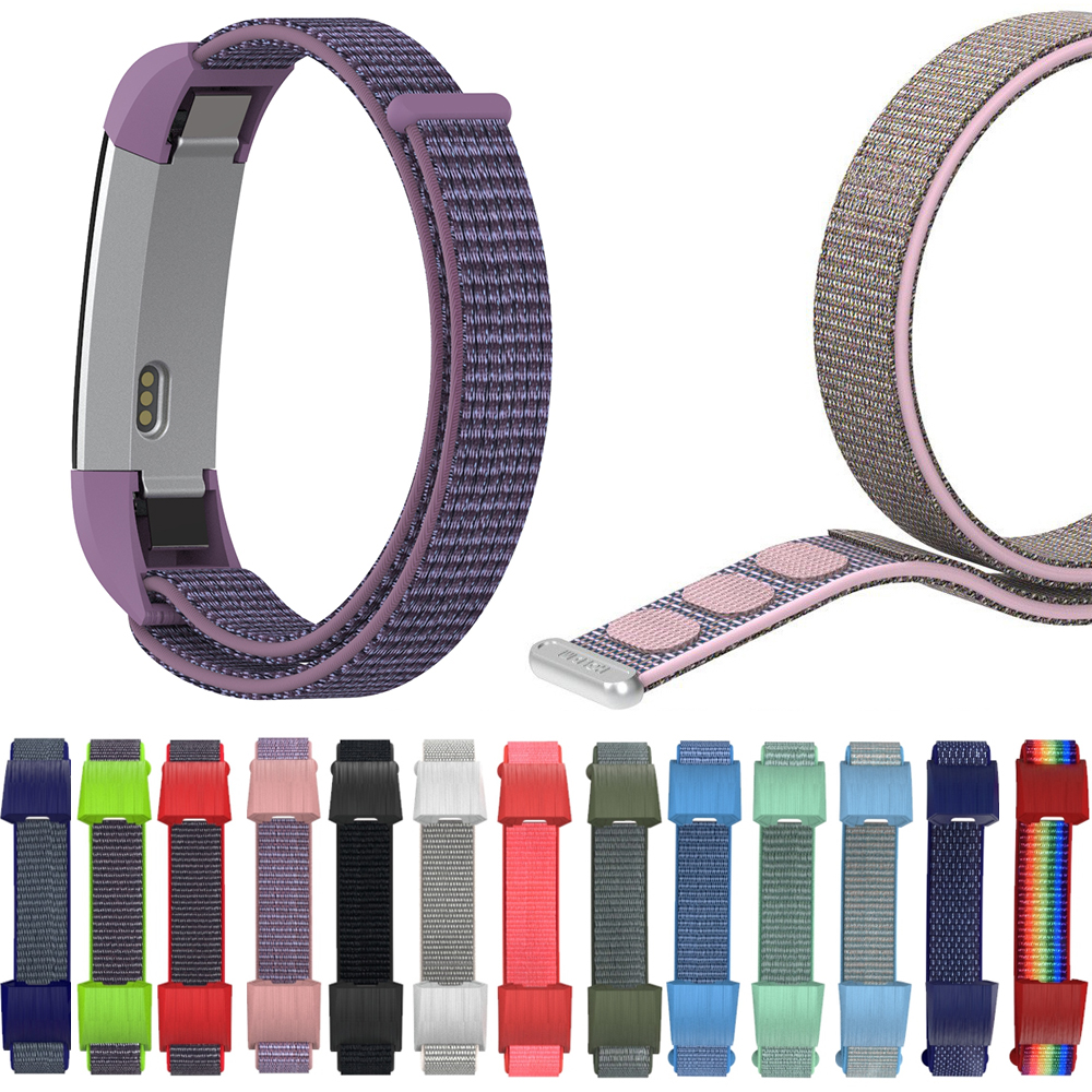 High Quality Adjustable Band For Fitbit Alta HR ACE Wristbands Magic Tape Fitness Tracker Replacement Bracelet Nylon Loop Strap