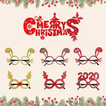 Christmas Ornaments Items Party Christmas Antler Bunny Frame Glasses Cristmas Decoration New Year 2020 For Kids Gifts 19OCT31(China)