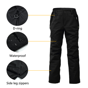 Image 4 - 8 Fans 2 ply Fishing Hiking Trawler Pant with Pockets Outdoor Quick Dry Breathable Trouser for Men & Women Waterproof Black