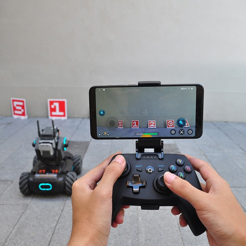 DJI Robomaster S1 Robot Remote Controller  Wireless Gamepad With Phone Holder Clip Joystick Grip APP Connect For RoboMaster