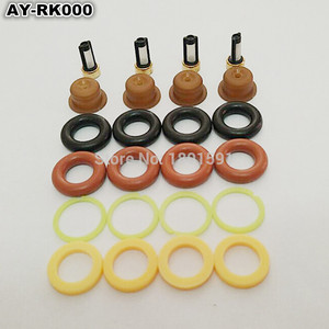 Image 3 - 4sets  Fuel injector repair kit /injector parts for bosch universal including micro filter oring plastic gasket pintle cap