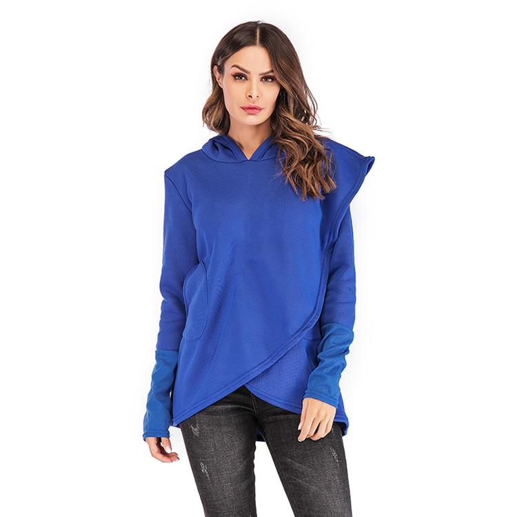 Women Hoodies Sweatshirts Autumn Winter Long Sleeve Pocket Pullover Hoodie 27