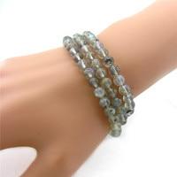 6mm Moonstone Three ring Bracelet Trendy Charm Friendship Good Round Bead Bracelet For Women Gift,Jewelry Wholesale