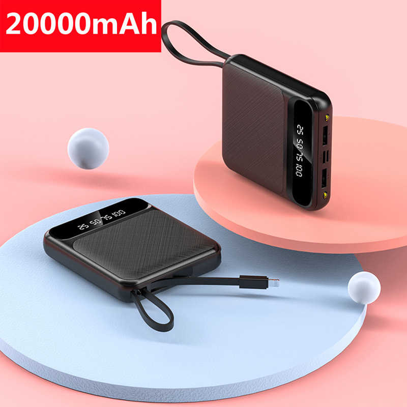 20000mAh Mini Power Bank Für Xiaomi Mi iPhone 11 Power Tragbare Mini Pover Bank Schnelle Ladegerät Externe Batterie Pack poverbank