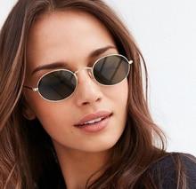 Sevimli seksi Retro Oval güneş gözlüğü kadın küçük altın siyah Vintage Retro güneş gözlüğü kadın kırmızı kadınlar için gözlük sürücü gözlük
