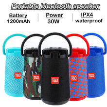 30W high power Bluetooth speaker outdoor waterproof portable stereo wireless mp3 player box subwoofer support FM radio TFAUX USB cheap Yilnesye Battery Plastic Full-Range 3 (2 1) Phone Function NONE Other Apple Music TG 138 Bluetooth speaker altavoz bluetooth