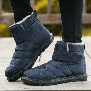 Image 2 - Peluche Caviglia Impermeabile degli uomini di Inverno Stivali Da Neve Scarpe Da Uomo di Avvio Botines Botas Impermeables Hombre Chaussure Homme Hiver Formato 48 49