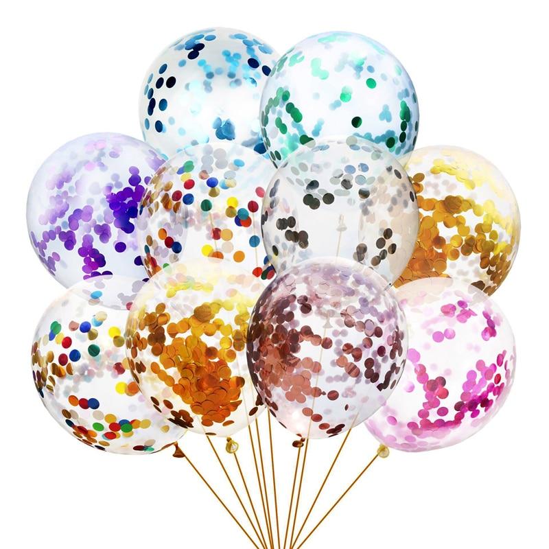 10Pcs 12inch Glitter Confetti Latex Balloons Wedding Christmas Decoration Baby Shower Birthday Party Decor Air Balloons Globos