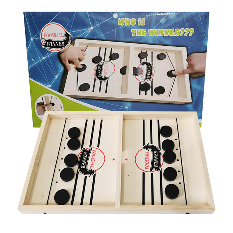 Foosball Games Fast Hockey Sling Puck Game Paced Sling Puck Winner Fun Toys Board-Game Party Game Toys For Adult Child Family