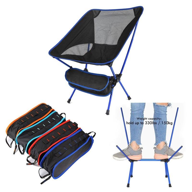 Ultralight Folding Camping Chair Fishing BBQ Hiking Fishing Picnic Chair Outdoor Tools Travel Foldable Beach Seat