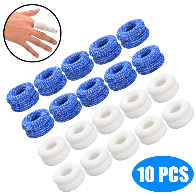 10Pcs Finger Bandage Finger Bobs Cots Buddies Dressings First Aid Tubular Bandage 15x600mm For Use Beneath A Finger Cot