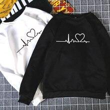 Loose Thick Knit Harajuku Love Printed Sweatshirt SF