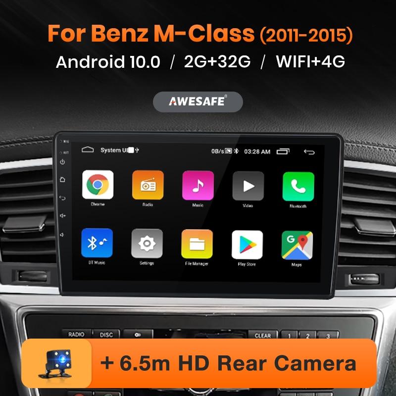 AWESAFE PX9 araba radyo mercedes-benz M sınıfı için M sınıfı W166 ML 2011-2015 multimedya oynatıcı 2Din Android Autoradio GPS Navigator