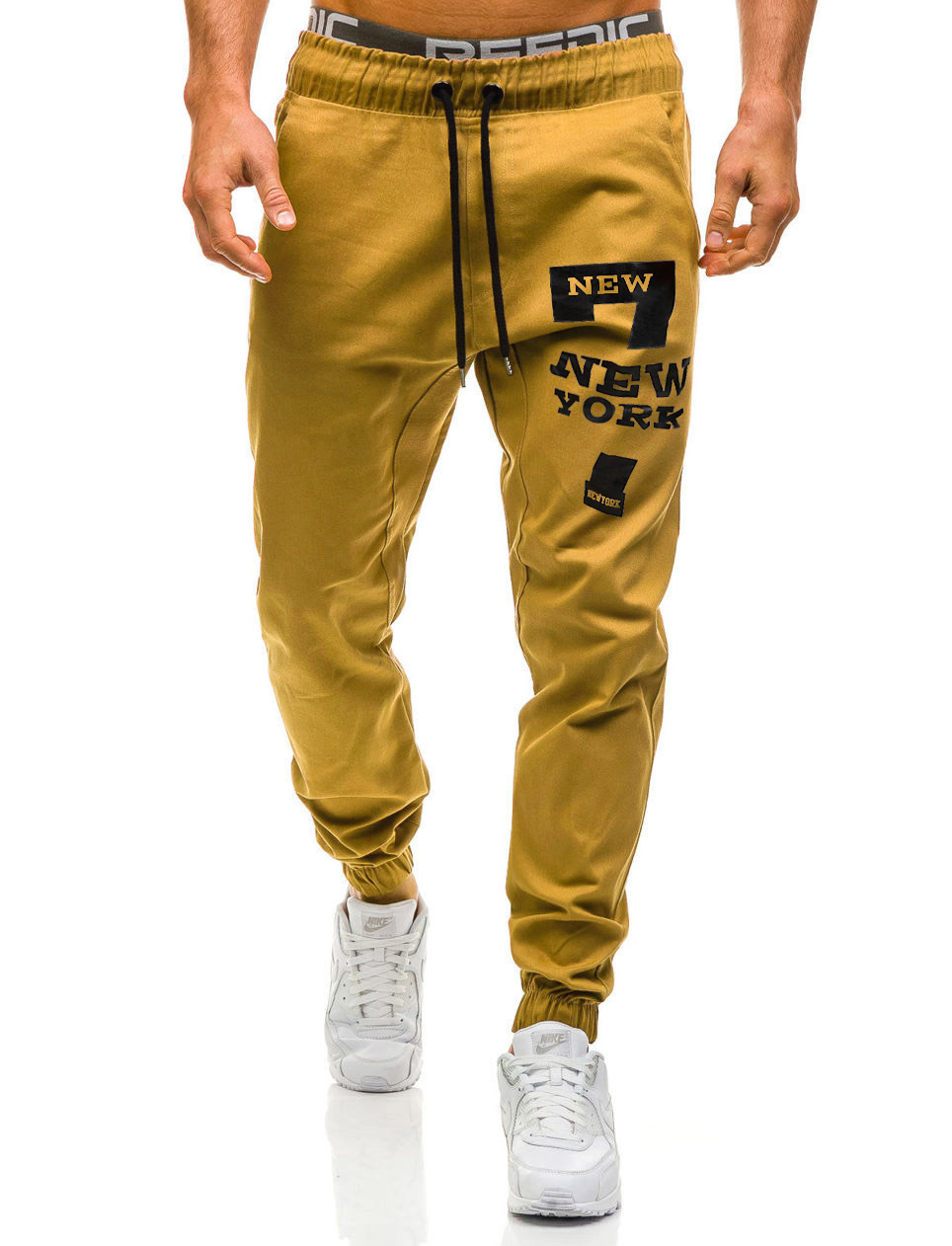 Fashion New Men Casual Sport Long Pants Slim Fit Trousers Running Joggers Gym
