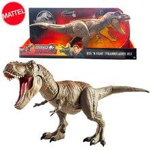 Mordendo do mundo jurássico original, luta contra tiranossauro rex, grande filme competitivo, modelo de dinossauro, figura de ação, brinquedo para crianças