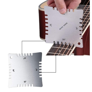 Image 5 - Juego de Herramientas de medición de diapasón de guitarra bmdt diapasón con 4 medidores de radio con muescas, 9 medidores de radio y acción de cuerdas