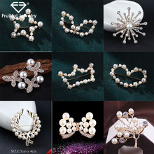 Fruitful Popular Bijoux Pearl Swan Water Drill Flower Brooch Rhinestone Female Brooch Pins Clothing Jewelry Accessories цена 2017