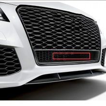 Car Styling Front Lower Honeycomb Badge Four Wheel Drive Logo for Audi quattr0 A6L Q3 Q5 Q7 RS3 RS6 S4 42cm Big Grille Emblem(China)