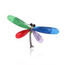 JUJIE моды Muticolor Смола стрекоза броши для Для женщин Винтаж насекомых Брошь контактами для Для мужчин животного ювелирные изделия дропшиппинг