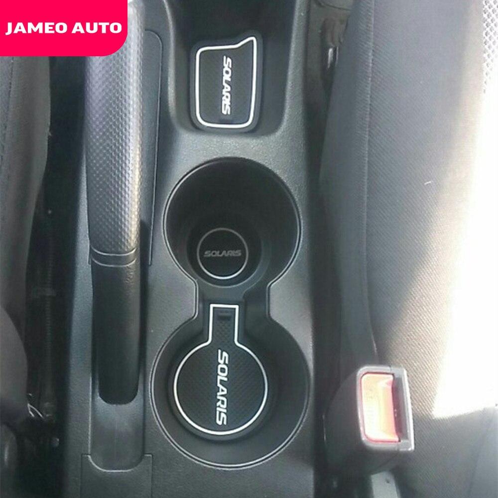 cheapest Jameo Auto Gate Slot Pad for Hyundai Solaris 2011 - 2016 Door Groove Mat Automotive Interior Non-slip Mats and Dust Mat