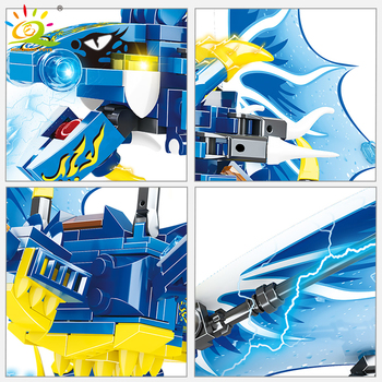 "Конструктор HUIQIBAO ""Синий дракон"", 328 шт. 3"