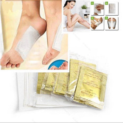 20pcs/lot Gold Premium Kinoki Detox Foot Pads Organic Herbal Cleansing Patches Feet Care Accessory(10pcs Patches+10pcs Adhesives