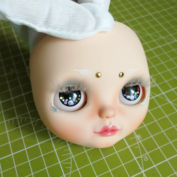 Blyth Doll Face Plate for diy your blyth makeup Including Back Plate customization doll Nude blyth white skin