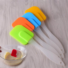 4YANG 1Pc Pastry Tools Silicone Spatula Baking Scraper Cream Butter Handled Cake Spatula Cooking Cake Brushes Kitchen Utensil