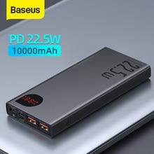 Baseus-Banco de energía de 10000mAh con carga rápida, 20W, PD, cargador de batería portátil, para iPhone 12Pro, Xiaomi y Huawei