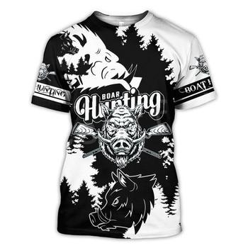 Tessffel Animal Bow Deer Hunter Hunting Camo New Fashion Harajuku Unisex 3DPrint Summer Short Sleeve Streetwear T-shirts A-4 1